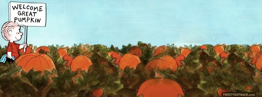 Welcome Great Pumpkin Charlie Brown